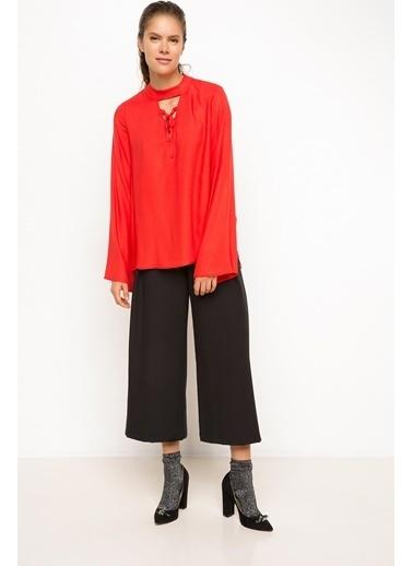 DeFacto Saten Bluz Kırmızı